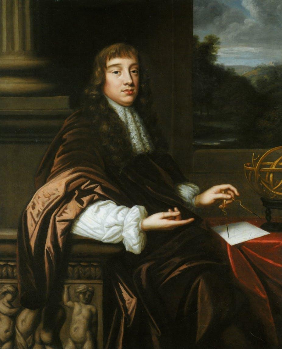Seated portrait of 17th C European man.