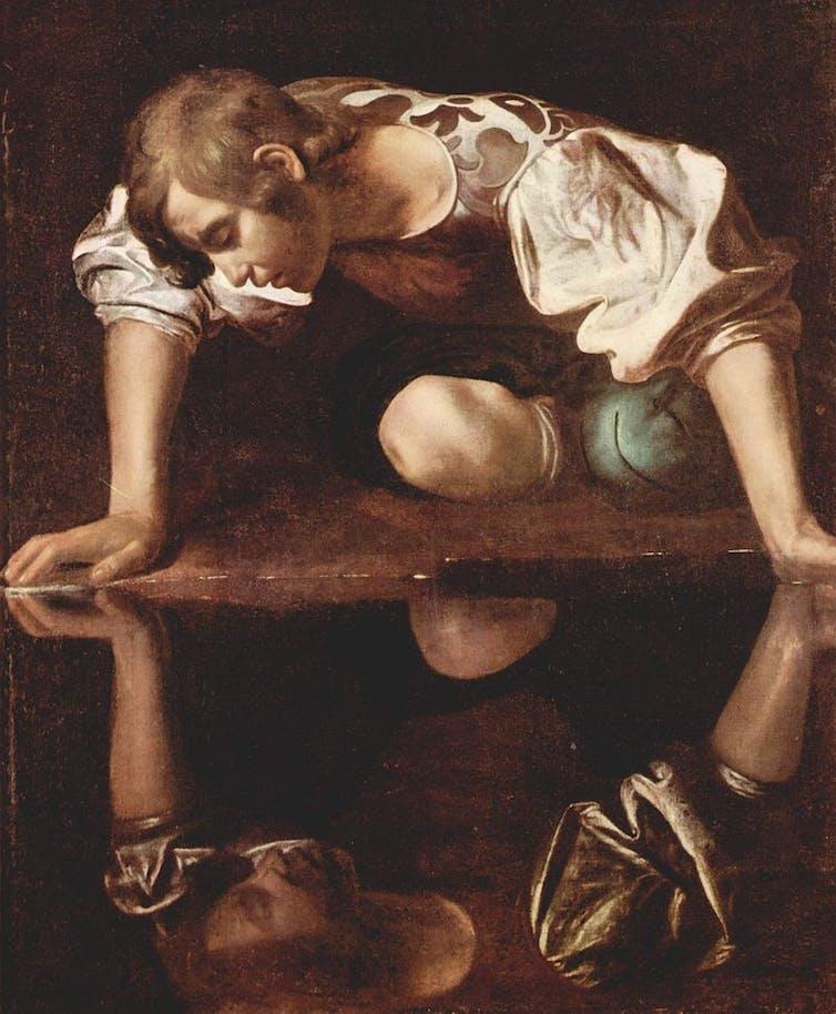 Narciso (Caravaggio, 1594-1596).Wikimedia Commons / Galleria Nazionale d'Arte Antica, Roma.