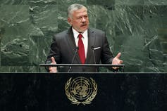 King Abdullah speaks at the UN