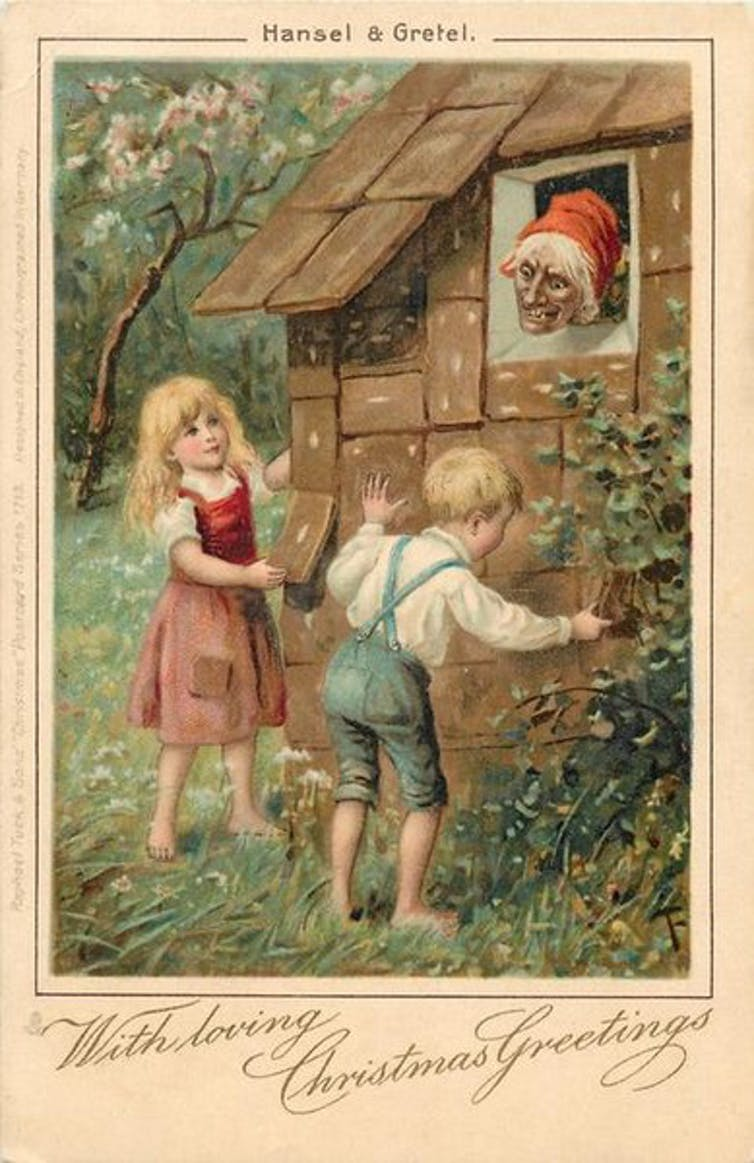 An old illustrated postcard.