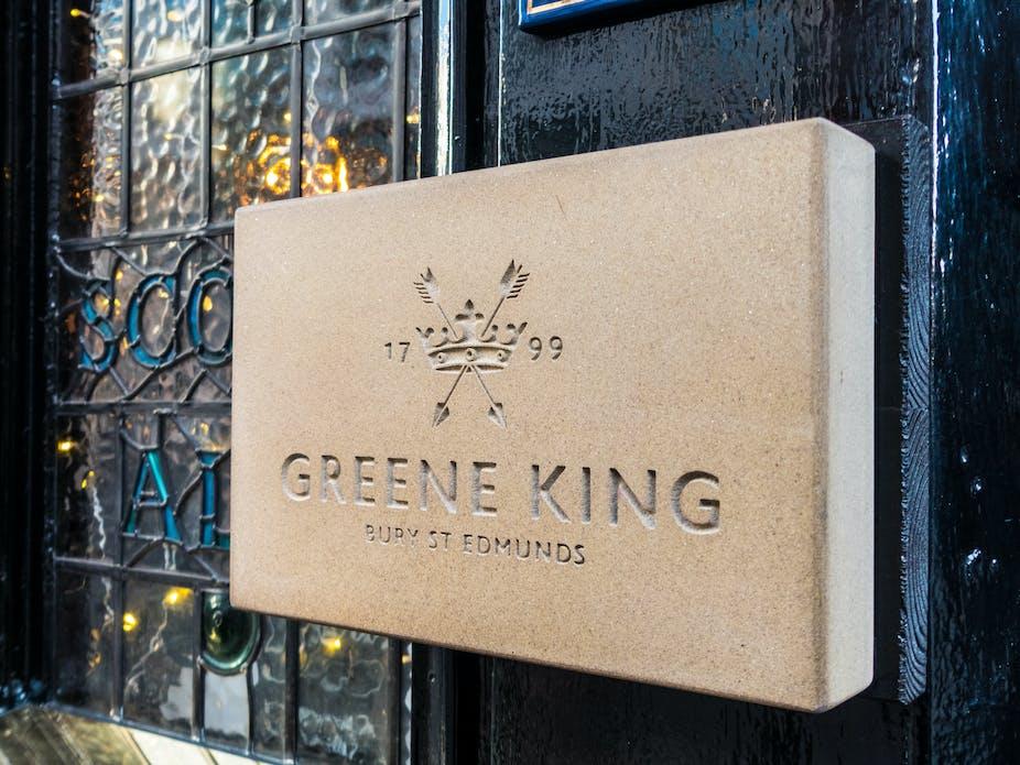 Greene King pub sign.