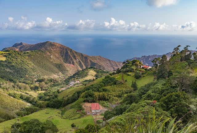 A picture of the island of St Helena.