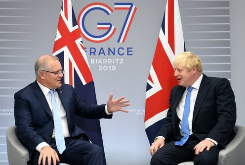 The leaders of Australia and the UK meet.