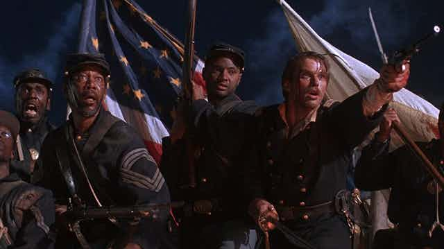 Denzel Washington and Cary Elwes starred in 'Glory.'