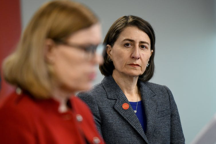 NSW Premier Gladys Berejiklian and NSW Chief Health Officer Kerry Chant