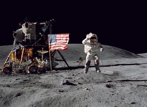 moon landing NAS photo