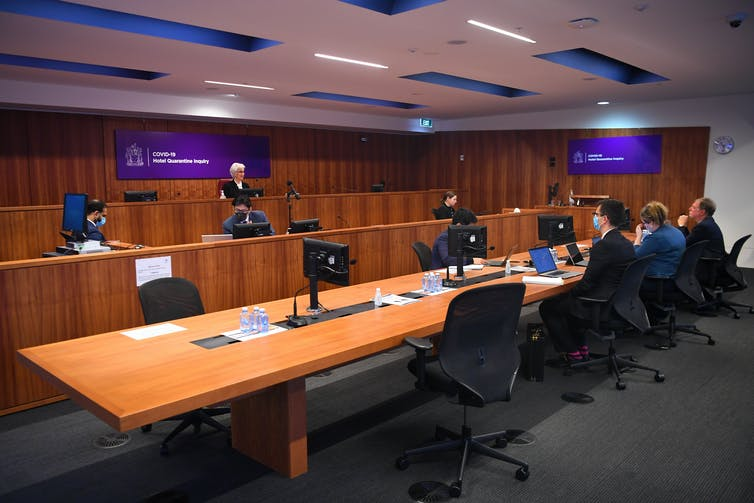 The COVID-19 Hotel Quarantine Inquiry begins in Melbourne on July 20 2020.