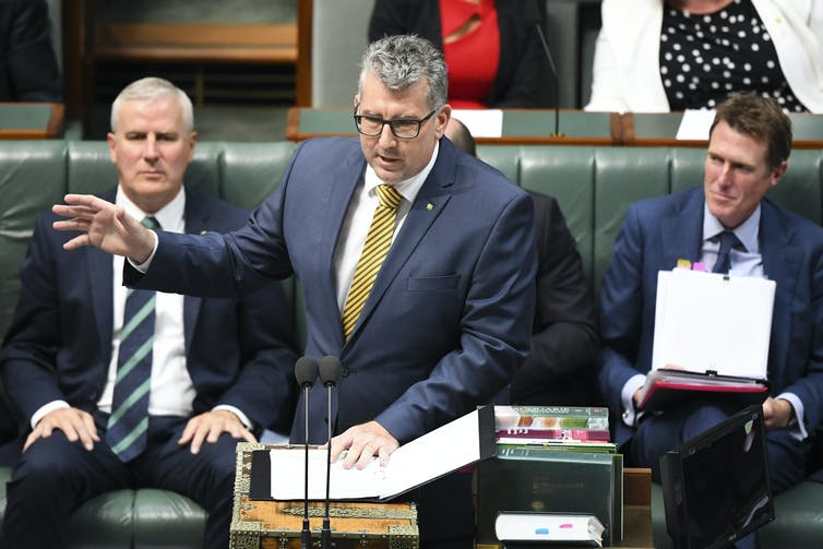 Minister Keith Pitt speaks during Question Time.
