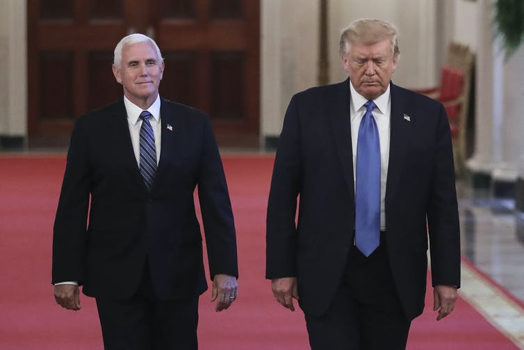 Pence helped boost Trump's standing among evangelical voters in the 2016 election. SIPA USA POOL