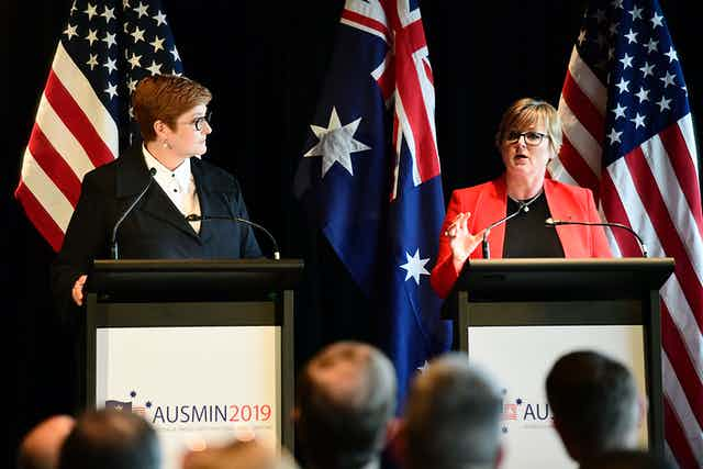 Foreign Minister Marise Payne and Defence Minister Linda Reynolds are heading to Washington for AUSMIN talks.