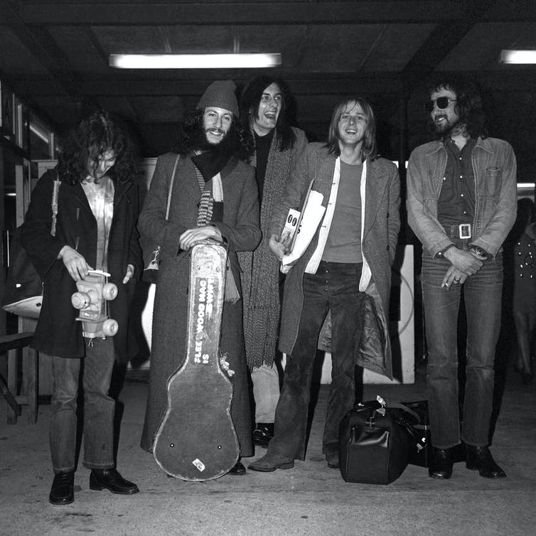Fleetwood Mac on tour in 1970.