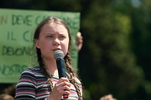Picture of climate activist Greta Thunberg.