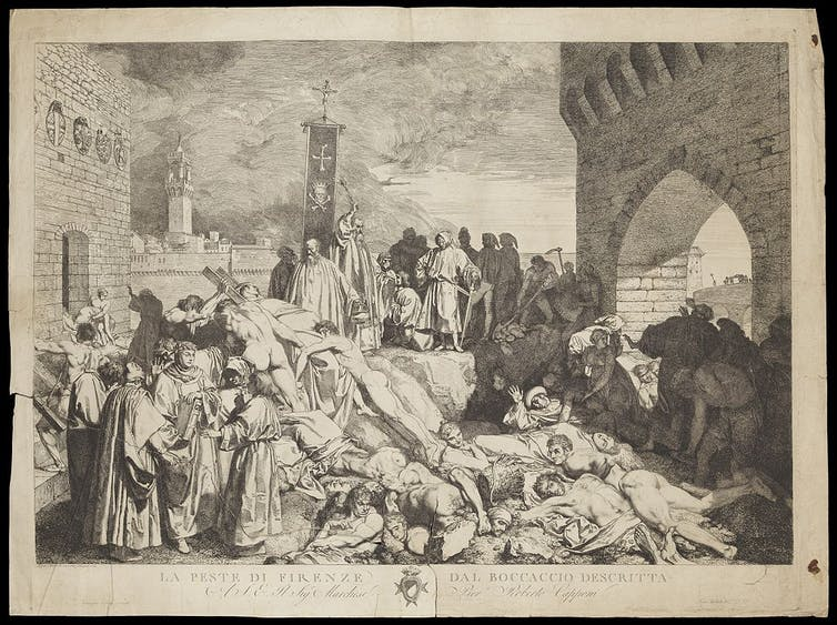 Boccaccio's 'The plague of Florence in 1348'