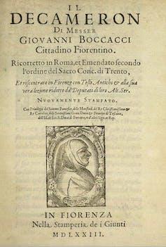 Il Decamerone di Giovanni Boccacci riccoretto cover page