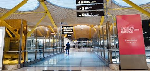 aeropuerto de Barajas vacío.
