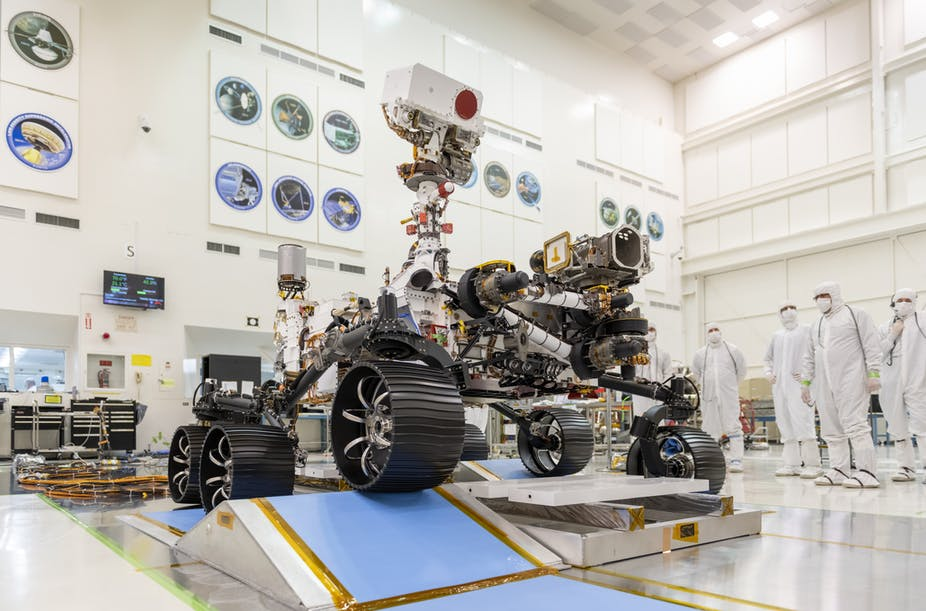 Perseverance takes her first steps toward Mars
