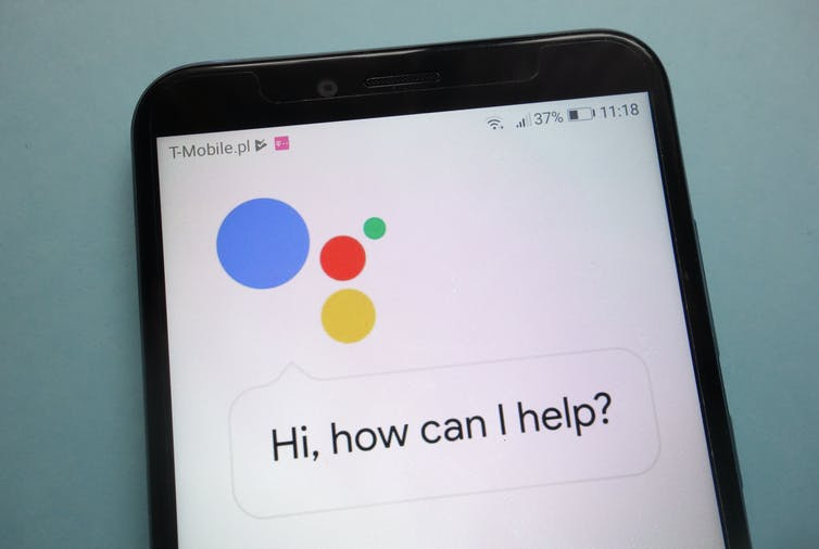 A phone featuring Google Assistant