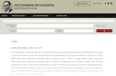 Entrada sobre José Ferrater Mora en la web del _Diccionario de Filosofía Ferrater Mora_.