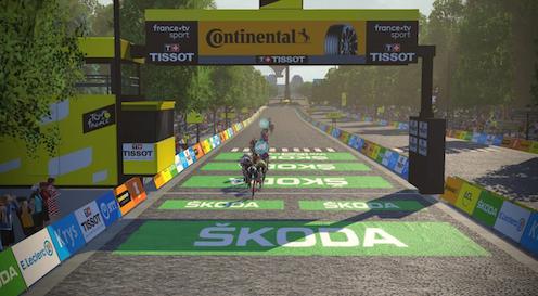 Australian rider Will Clarke won the 2020 Virtual Tour de France.