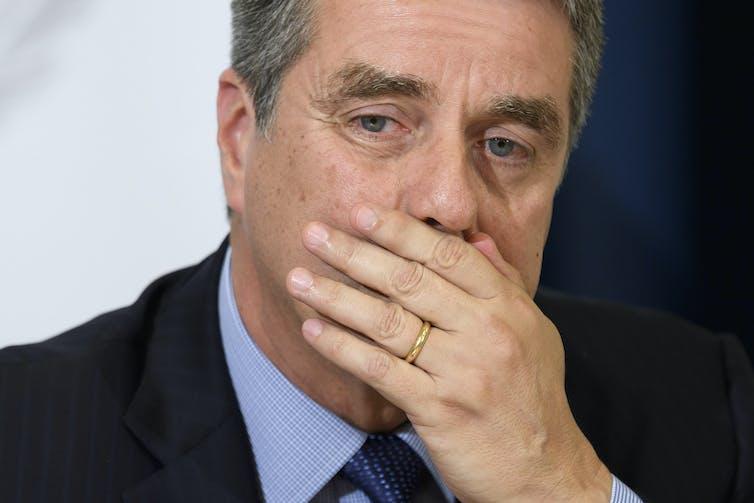 Roberto Azevedo looking pensive