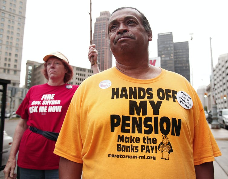 Detroit's biggest debt during bankruptcy was to its pension holders.