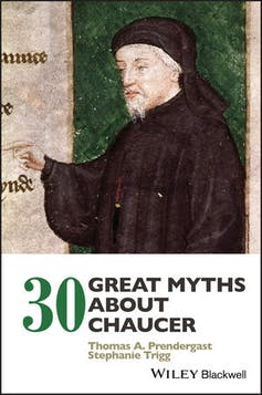Book cover: writer Chaucer