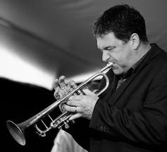 Kevin Turcotte playing trumpet