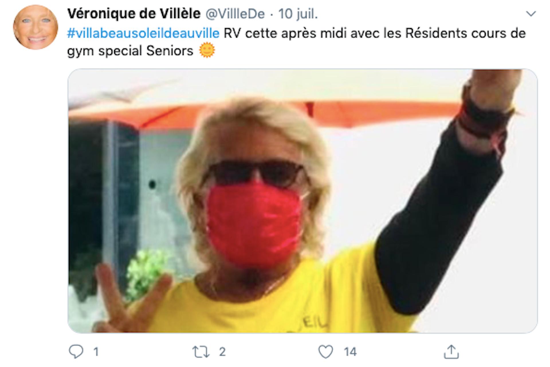 Capture d'écran du compte Twitter de Véronique de Villèle. @VillleDe