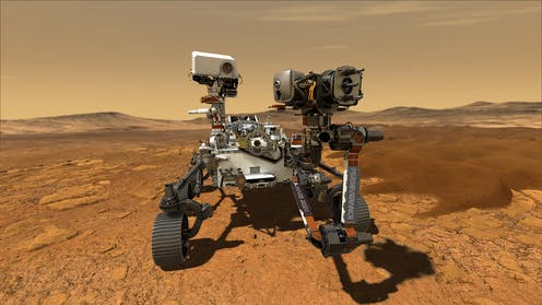 Picture of NASA's Perseverance rover on Mars.
