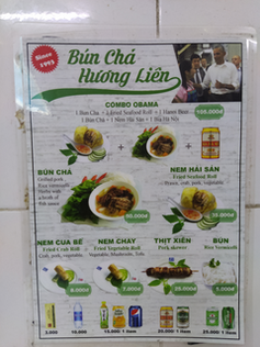 menu restaurant hanoi