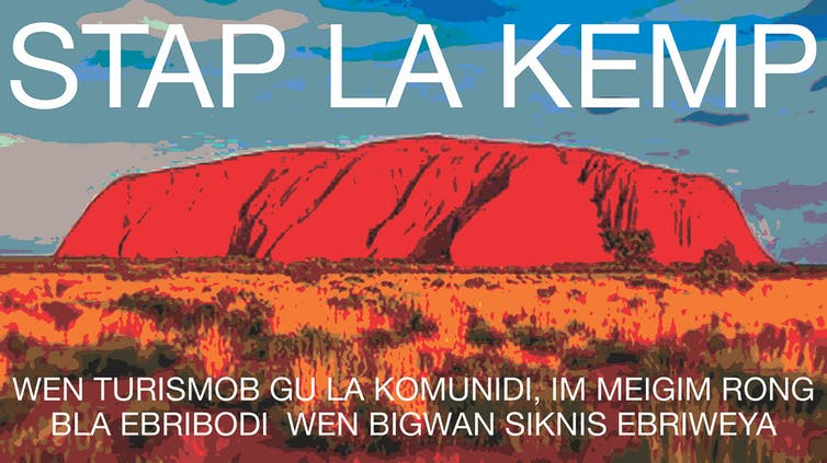 Uluru poster with Kriol health message