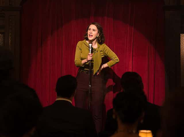 STand-up comic Midge Maisel in the hit TV show.