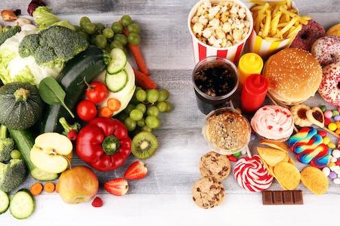 Image result for healthy vs junk food