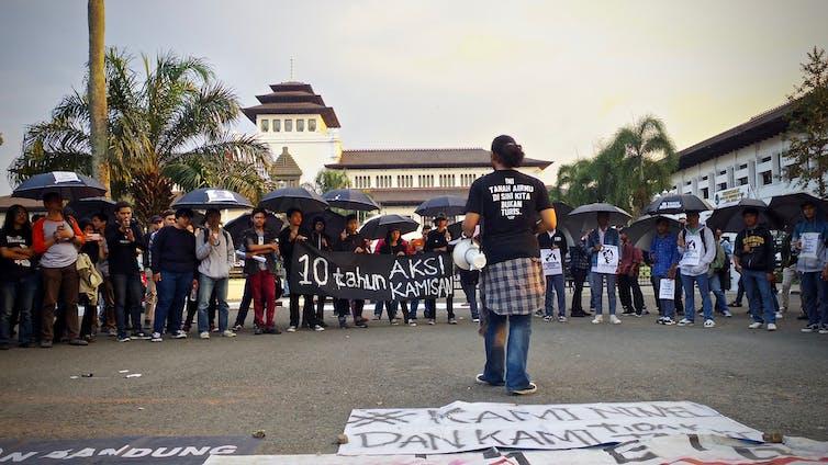 Aksi Kamisan di Bandung, Jawa Barat, pada 2017.