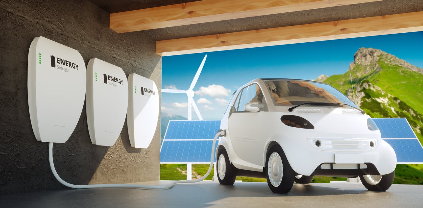 Climate explained: could electric car batteries feed power back into the grid?