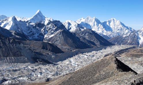 The Khumbu glacier in Nepal