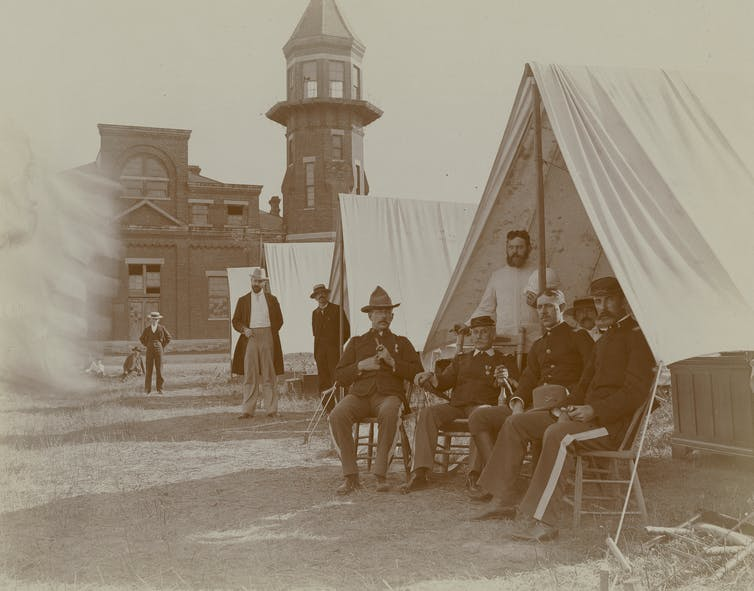 Troops in Chicago during the Pullman Strike.