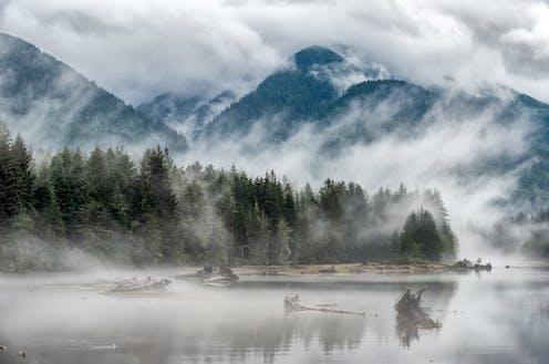 L'île de Vancouver dans la brume