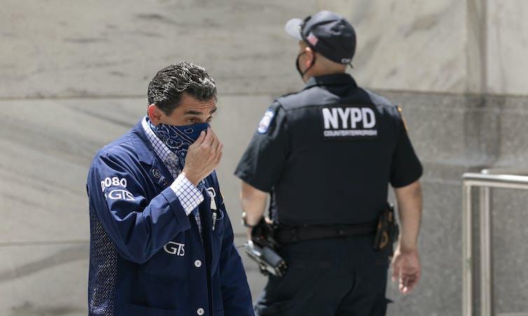 Stock trader enters New York Stock Exchange