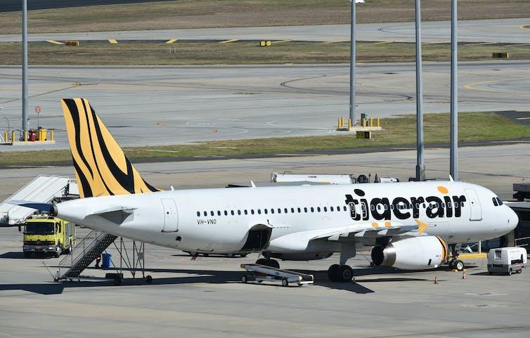 Tigerair jet at Melbourne Airport.