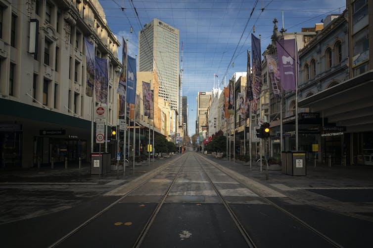 Empty Melbourne street.