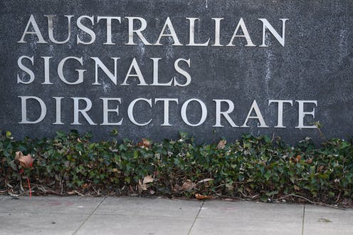 A sign reading 'Australian Signals Directorate'