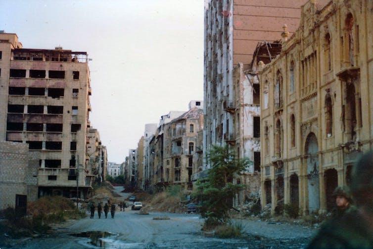 La Ligne Verte à Beyrouth durant la guerre civile. James Case/CC BY, CC BY