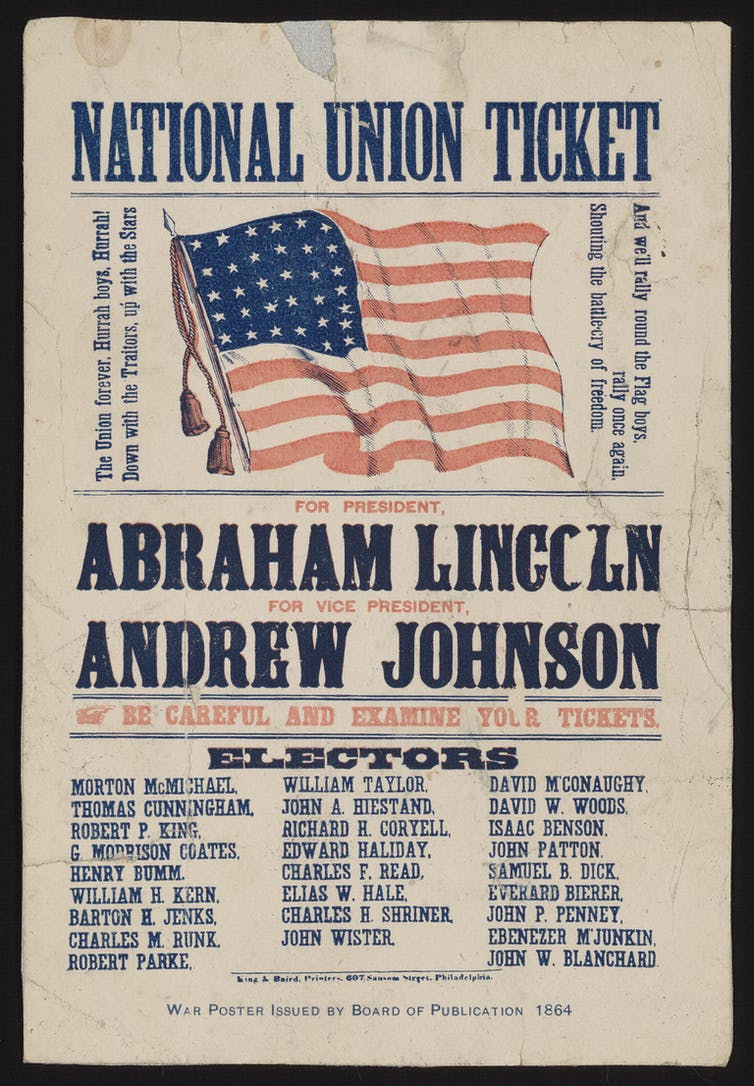 A Lincoln-Johnson campaign ticket