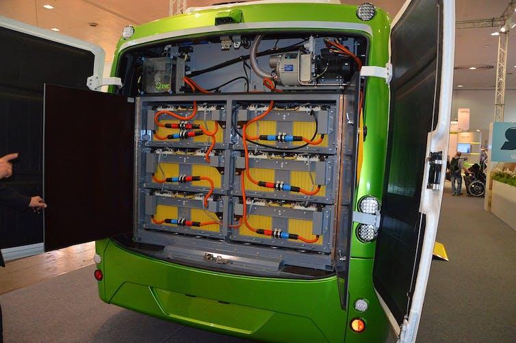 Baterías de un autobús eléctrico