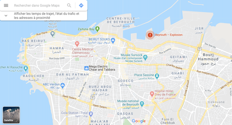 Carte de Beyrouth