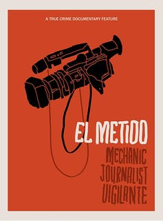El Metido title with camera on red background