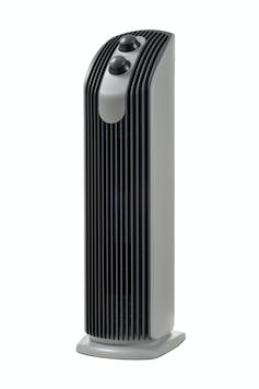 A stock image of an upright air cleaner.