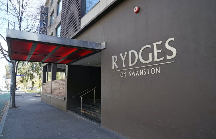 Rydges on Swanston hotel in Melbourne.
