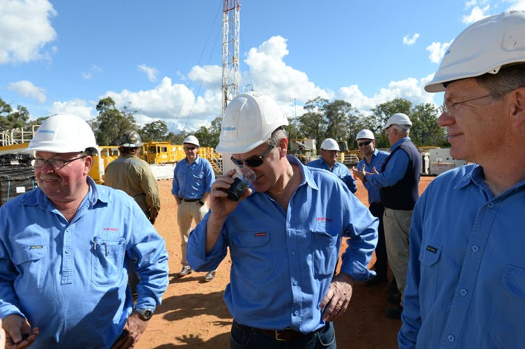 Officials inspect the Narrabri Gas Project